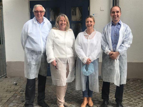 Unser Foto zeigt (v.l.n.r.) Dr. Günter Küchler, Anette Siegel, Jessica Brucculeri und Dr. Konrad Hohlfeld.