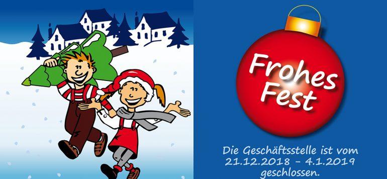 Der Verein für Zahnhygiene e.V. wünscht Ihnen ein Frohes Fest und alles Gute für 2019. Die Geschäftsstelle ist vom 21.12.2018 – 4.1.2019 geschlossen.