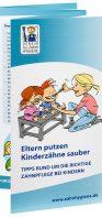 """Titel Broschüre """"Eltern putzen Kinderzähne sauber"""""""