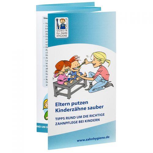 """Broschüre """"Eltern putzen Kinderzähne sauber"""""""