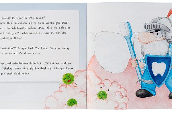 """VfZ Kinderbuch """"Hubi der Zahnzwerg"""" Innenseiten"""